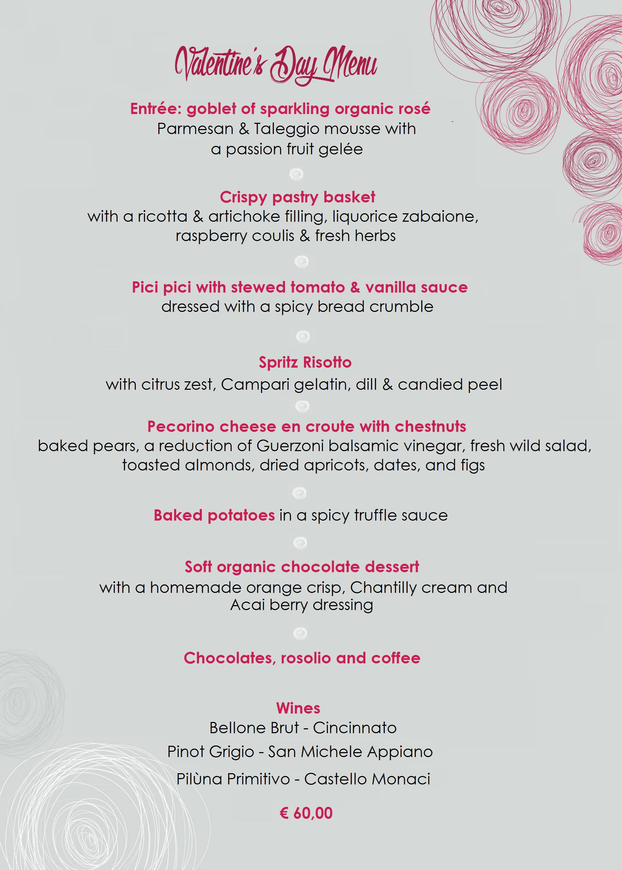 Menu San Valentino 2017 ENG