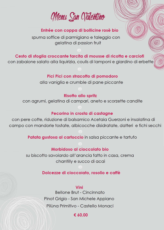 Menu San Valentino 2017 ITA